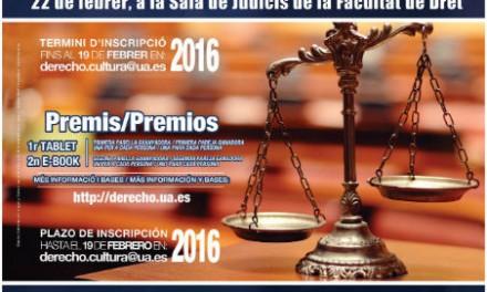 Concurso de debates jurídicos en Derecho