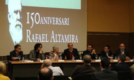 La UA celebra el 150 aniversario del nacimiento de Rafael Altamira