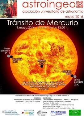 Sigue el tránsito de mercurio en la UA