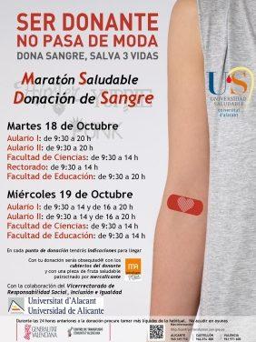 Megamaratón de donación de sangre en la UA