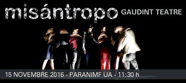 """""""Misántropo"""" en el Paraninfo"""
