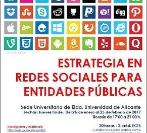 """Curso de """"Estrategia en redes sociales para entidades públicas"""""""