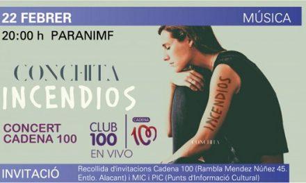 """Conchita presenta su nuevo disco """"Incendios"""" en el Paraninfo de la UA de la mano de Club 100 en vivo"""